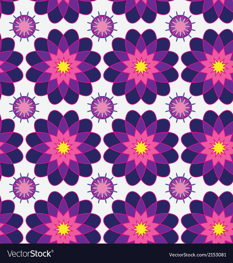 Beautiful seamless floral pattern flower Elegance vector image