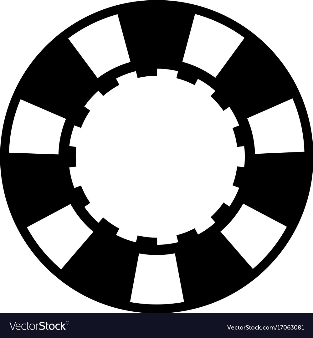 black casino poker chip royalty free vector image rh vectorstock com poker chip vector png poker chip vector png