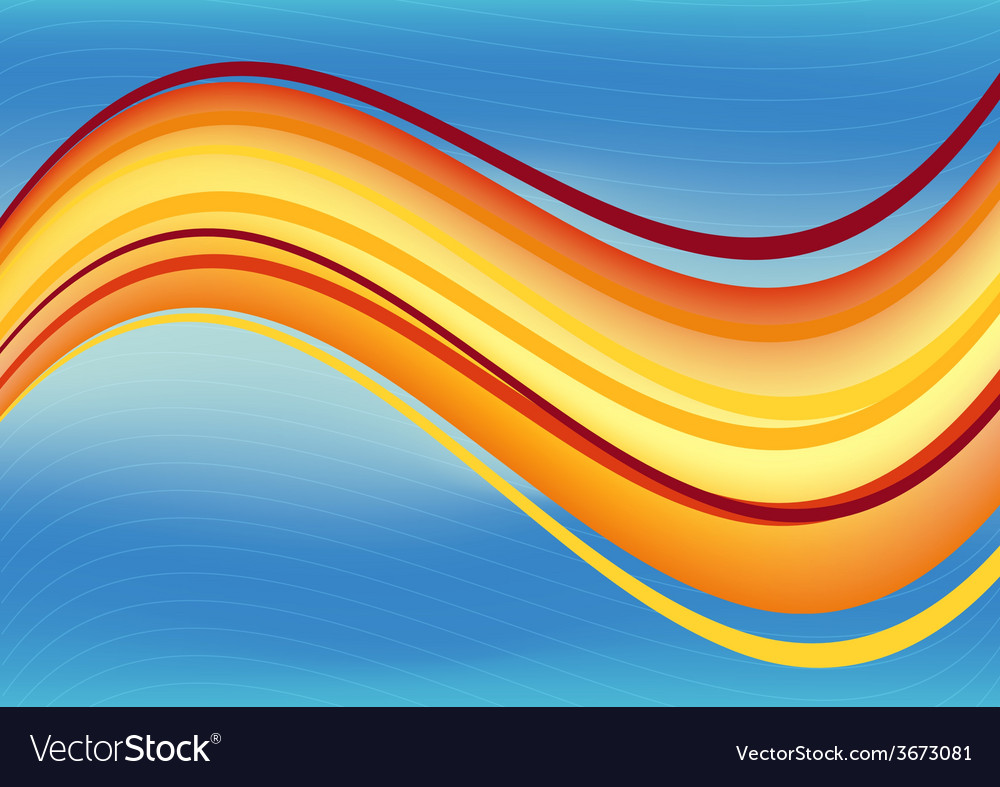 Blue And Orange Waves Package Background