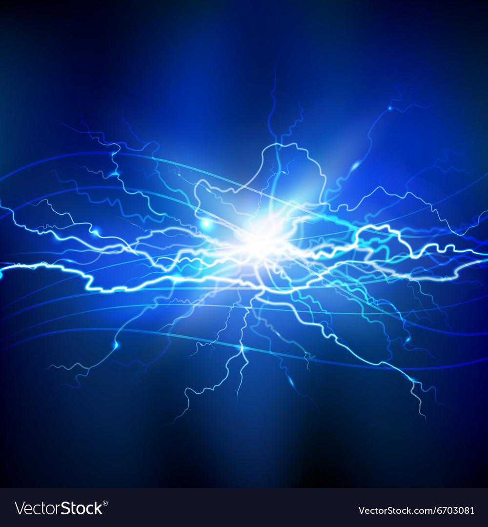 Blue Lightning Background vector image