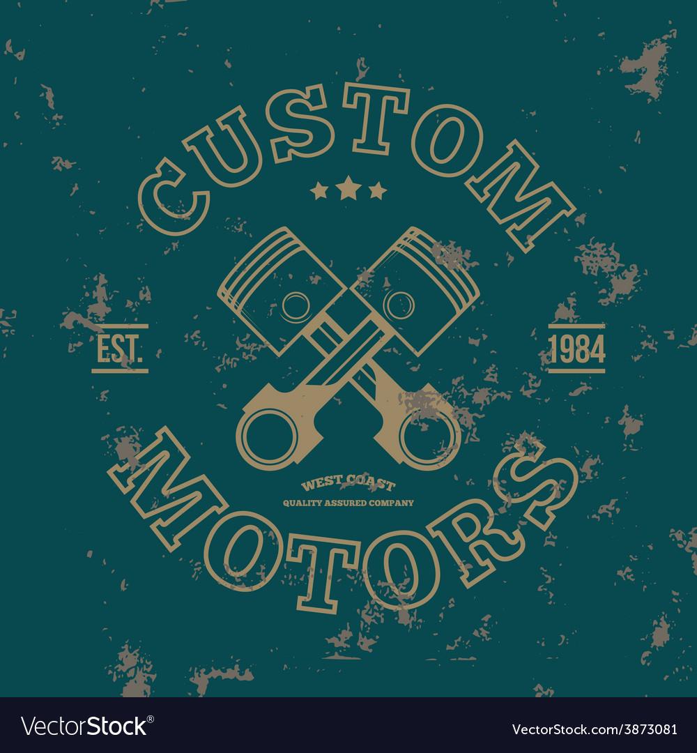 Custom motors T-shirt graphics