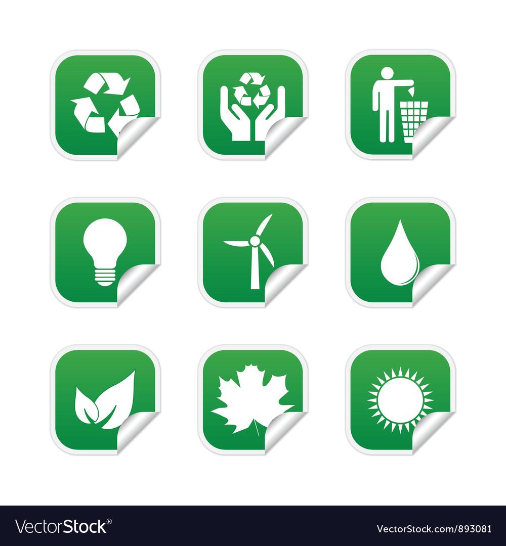 Ecological labels vector image