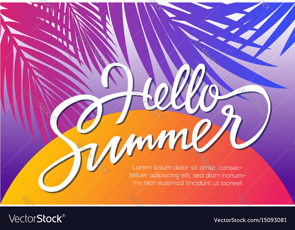 Hello summer - leaflet template with brush
