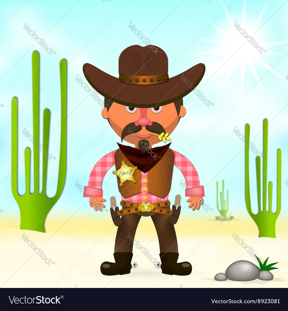 Hot cowboy in the desert