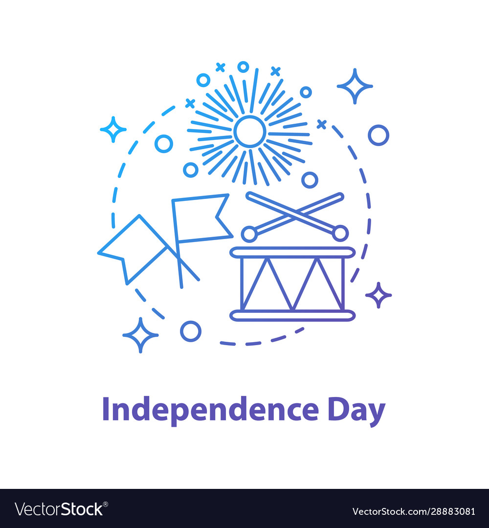 Independence day concept icon