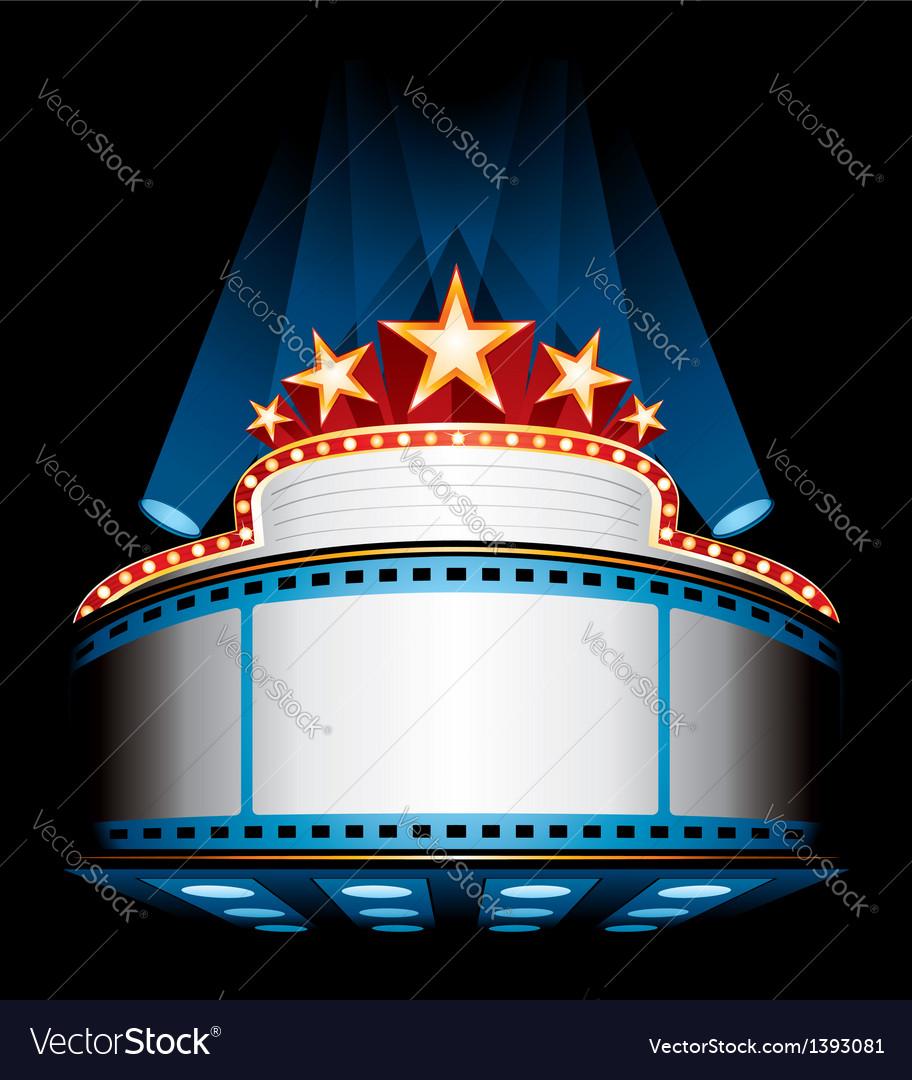Movie premiere vector image