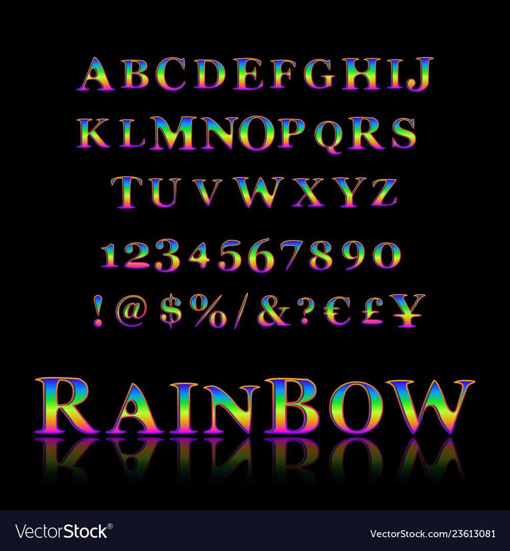 Stylized colorful font