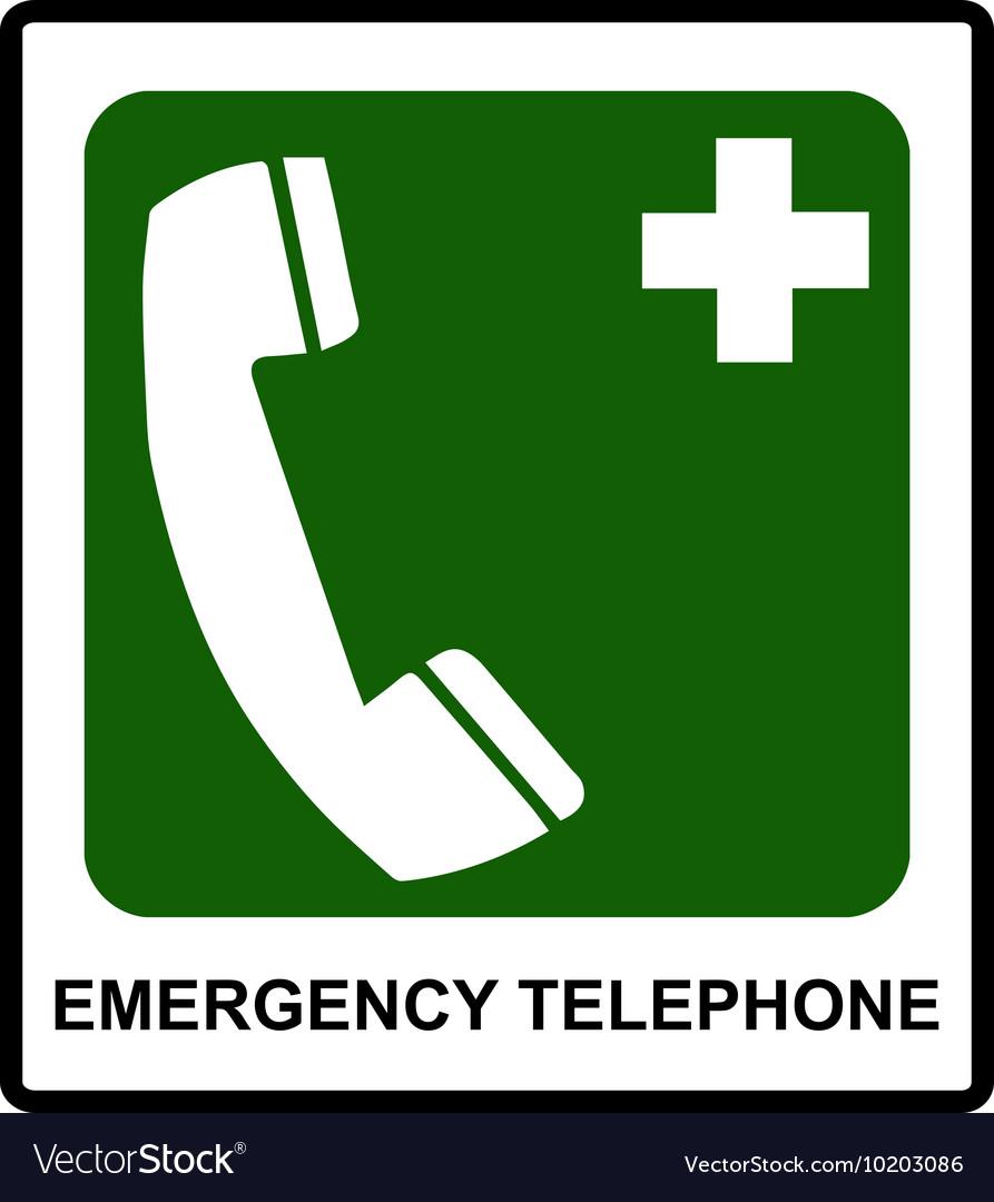 Emergency hospital telephone safety signs