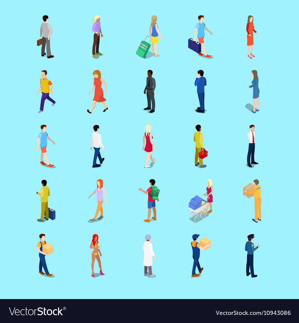 Isometric People Collection Businessman Tourist
