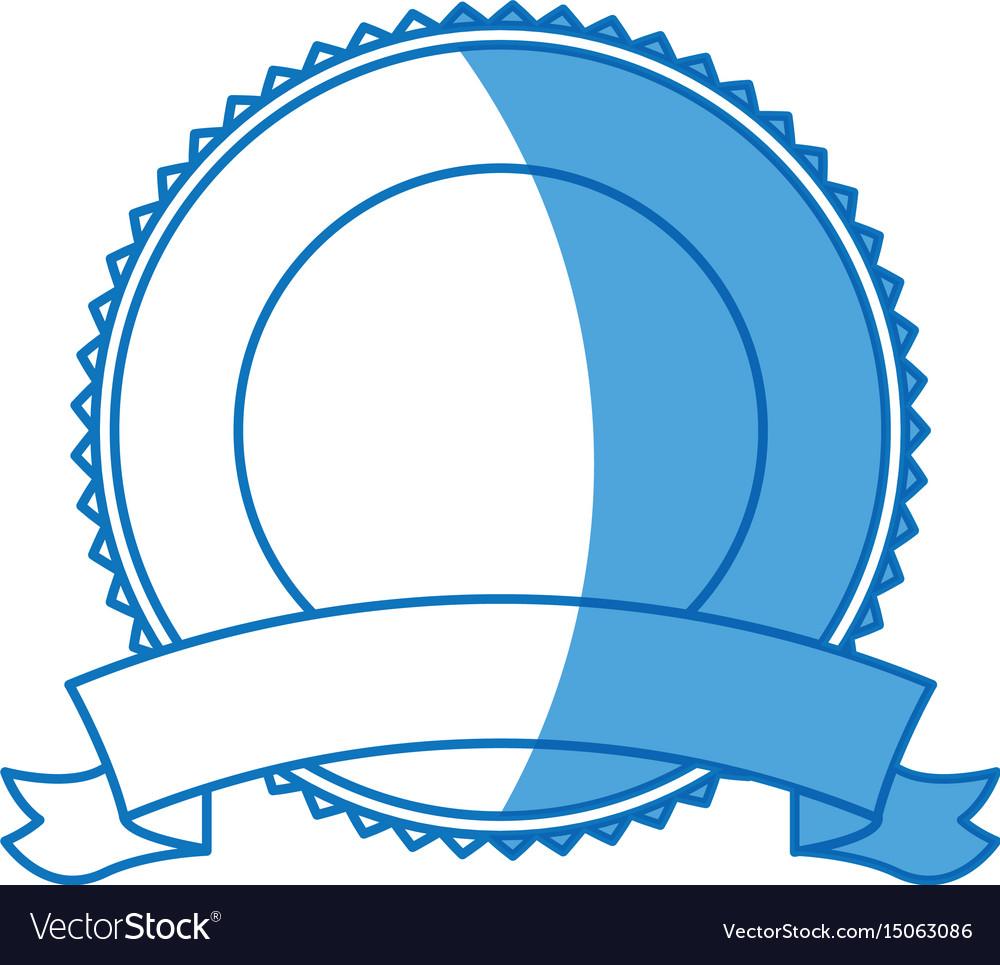 Label badge ribbon banner decoration blank emblem