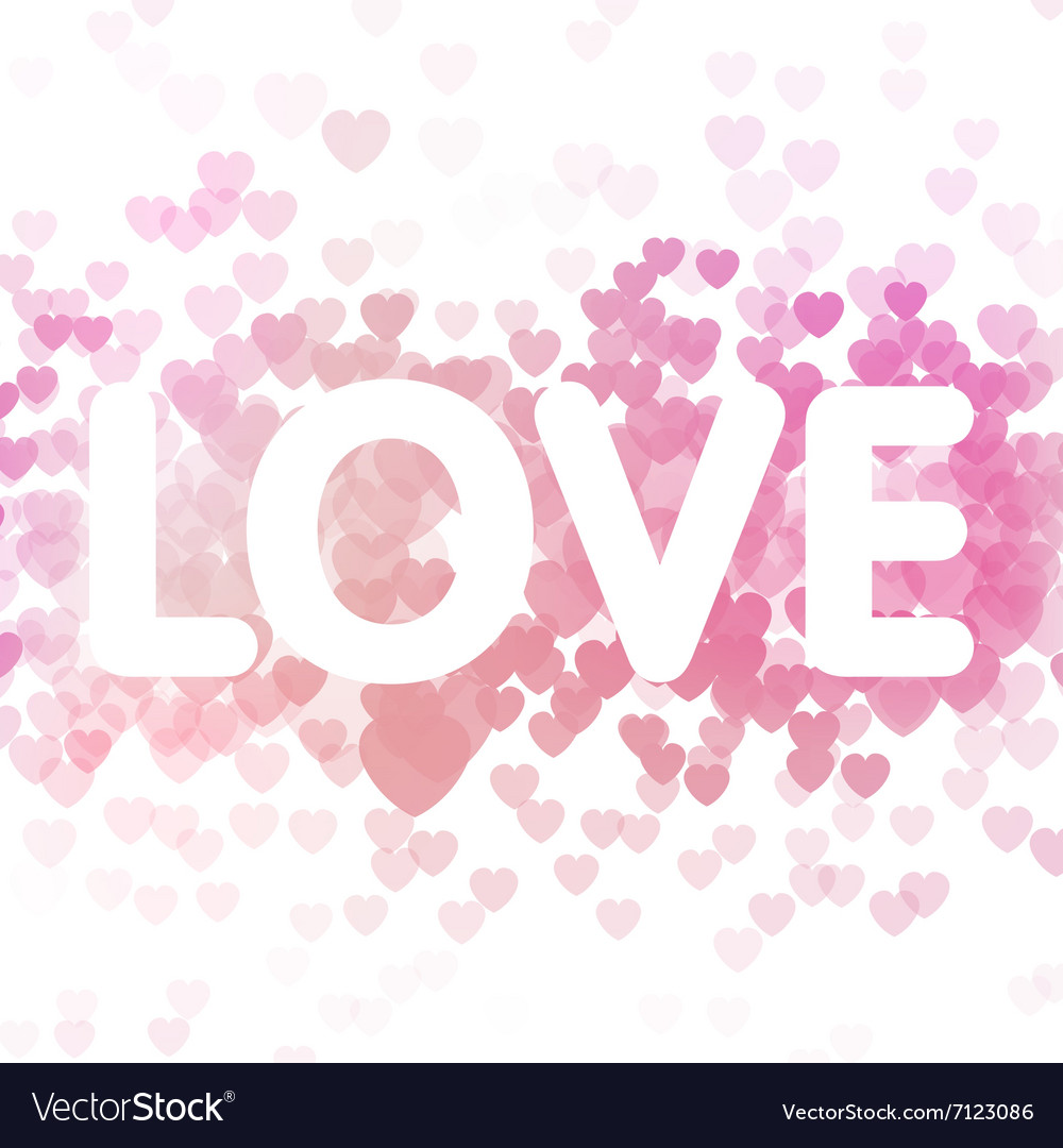 Love on heart background vector image