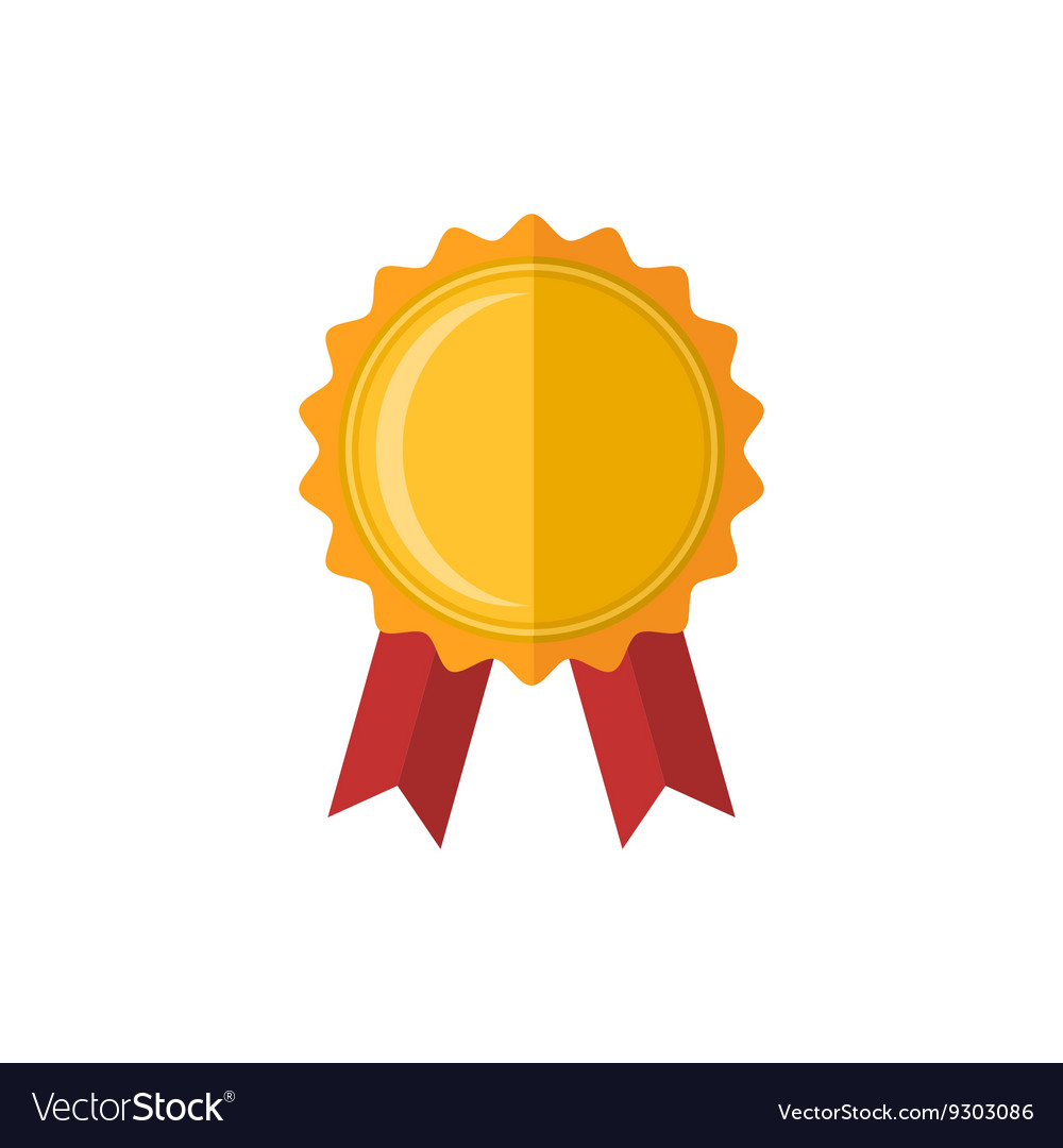 Medal award icon vector image