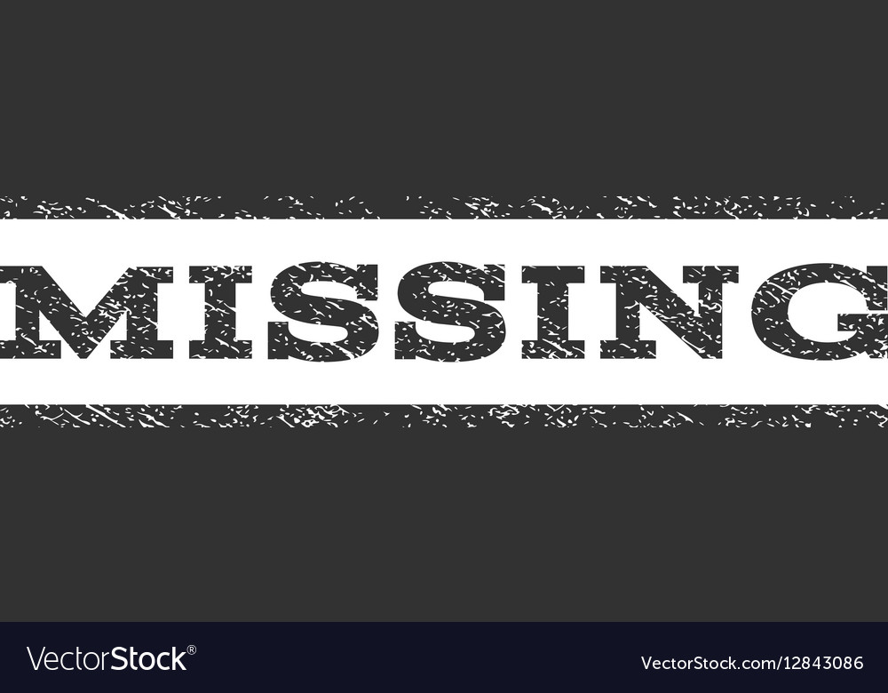 Missing Watermark Stamp vector image