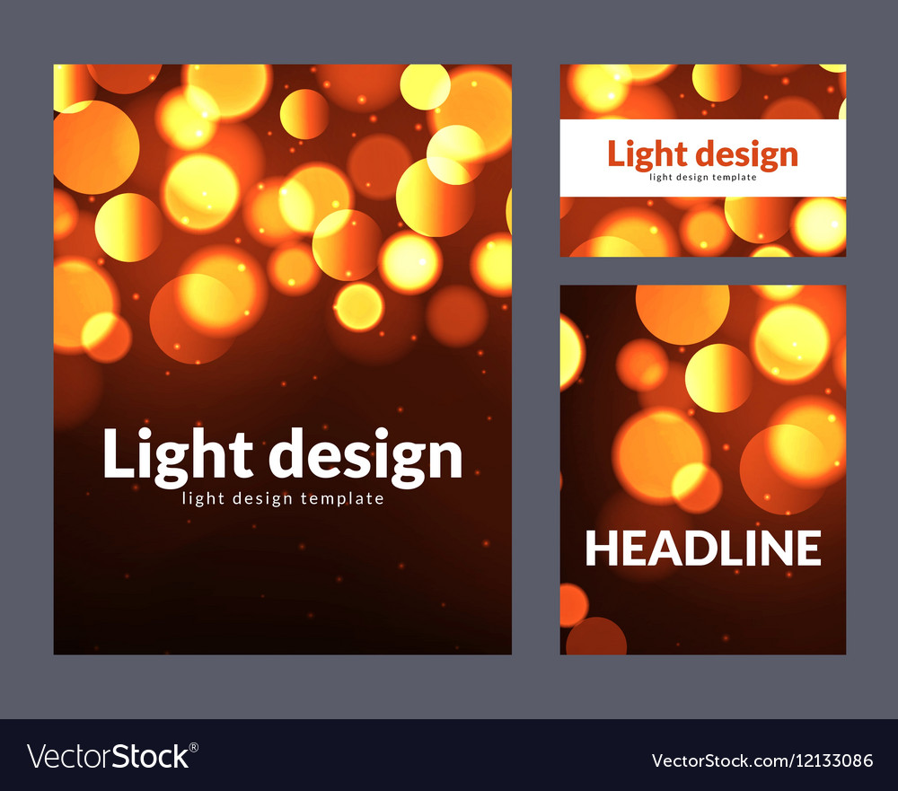 Poster design template with bokeh light effect