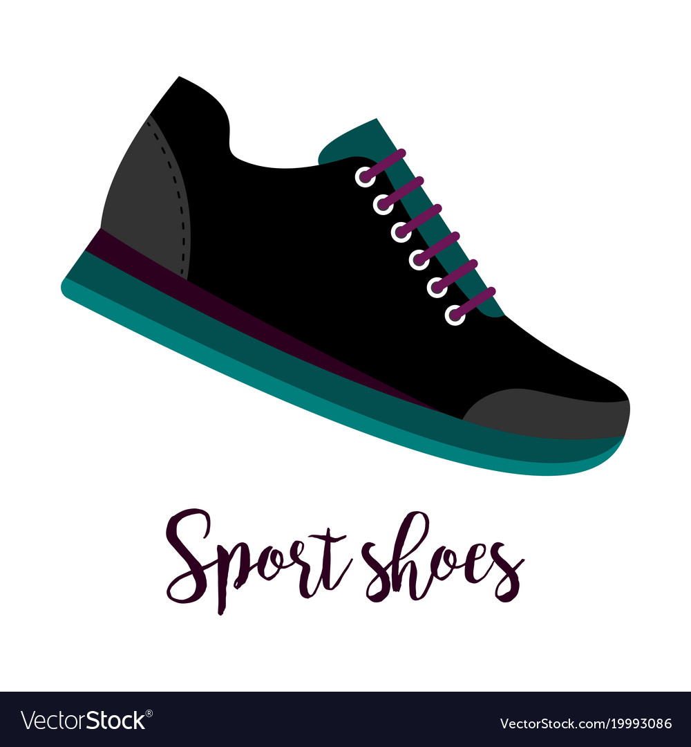 Sport shoes icon with text