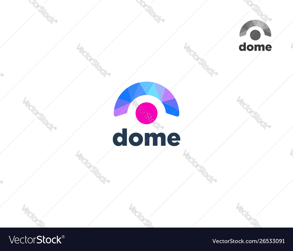 Abstract colorful dome logo design