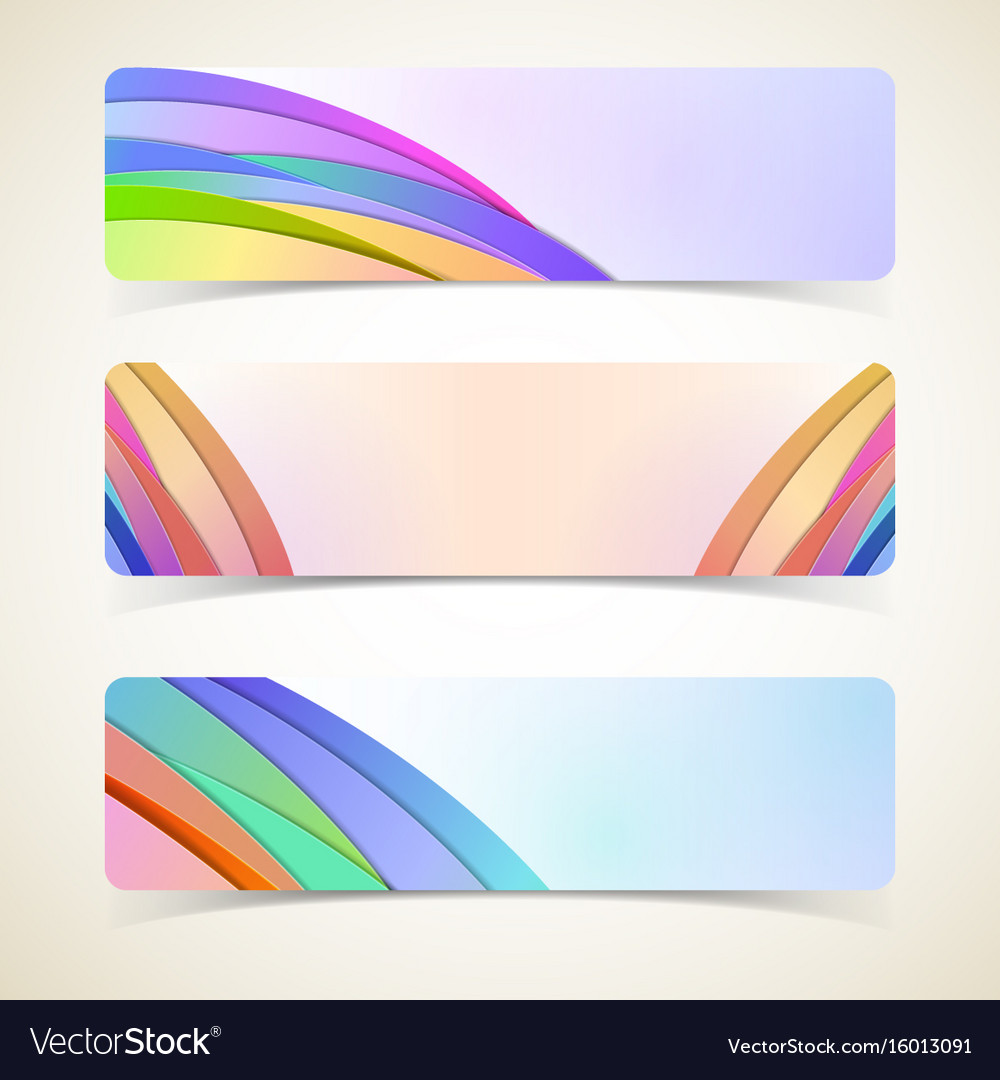 Abstract design horizontal banners set