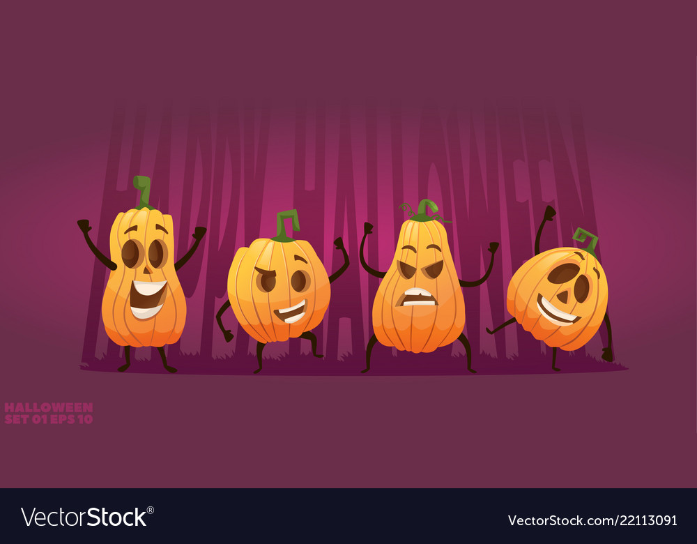 Artoon happy pumpkin