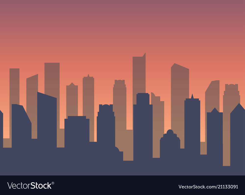 Background with city for business web site