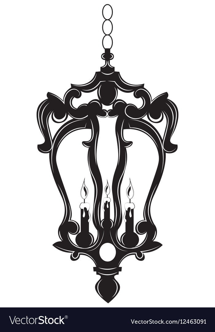 Classic baroque chandelier royalty free vector image classic baroque chandelier vector image aloadofball Image collections