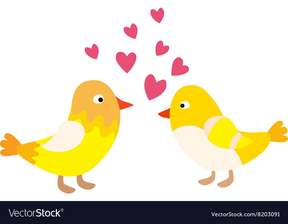 Couple of cute love birds nature sweet comic