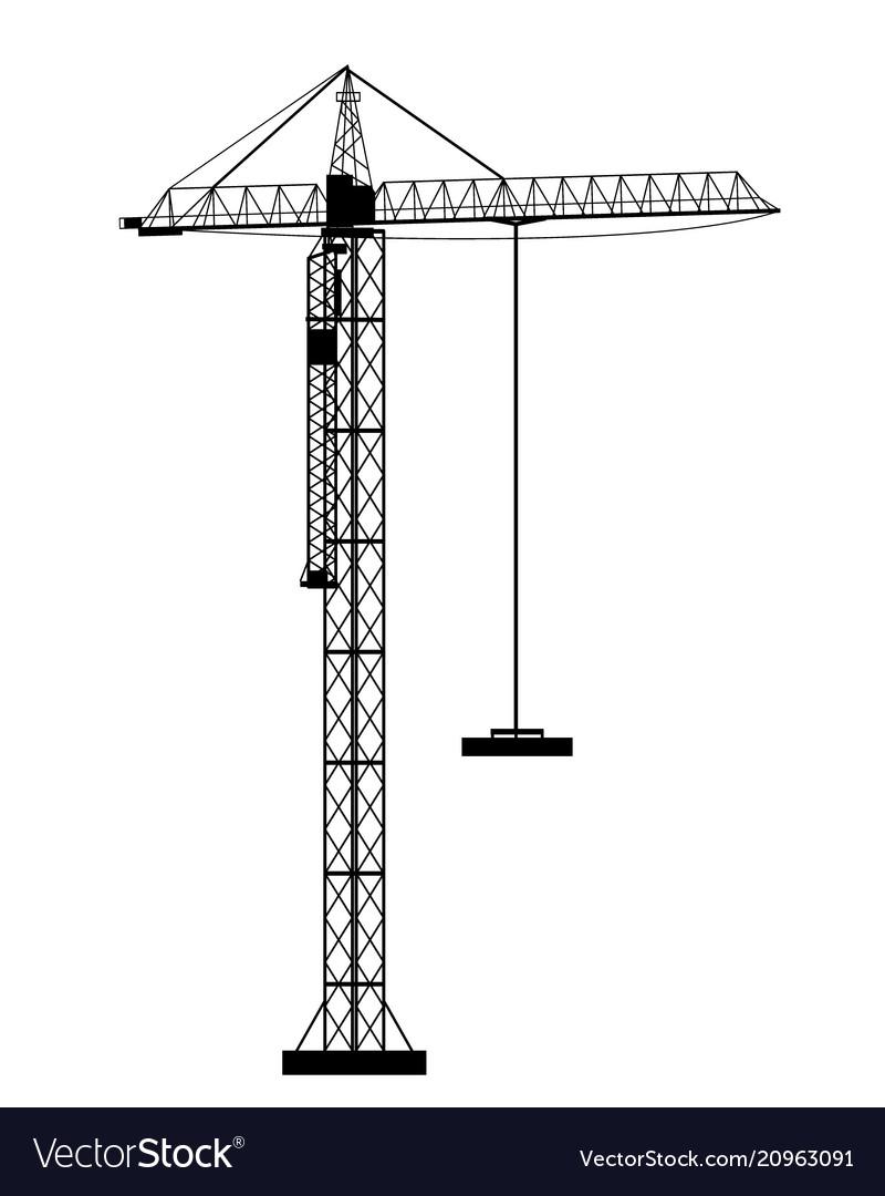 Crane icon on the white background