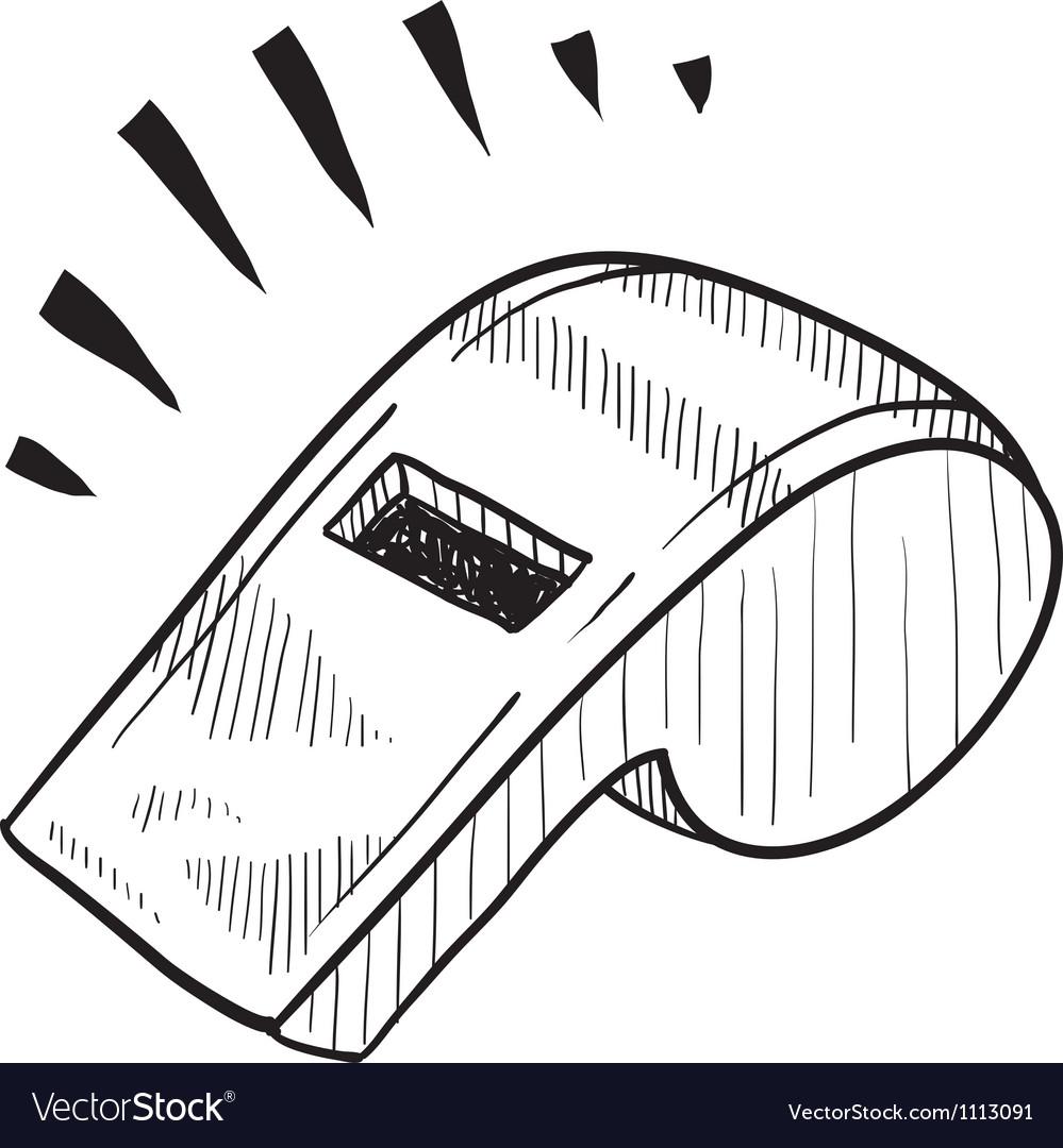 Doodle whistle coach vector image