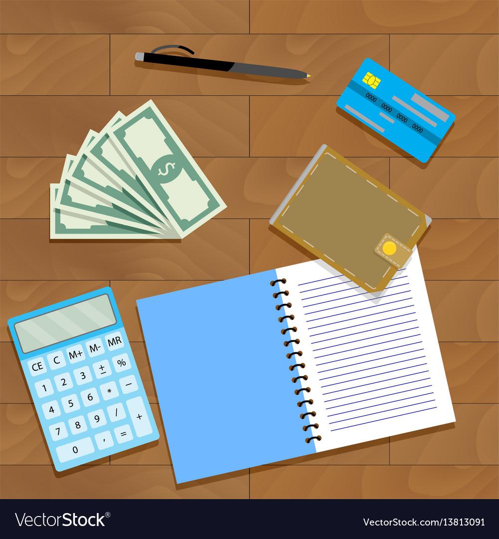 Finance plan concept vector image