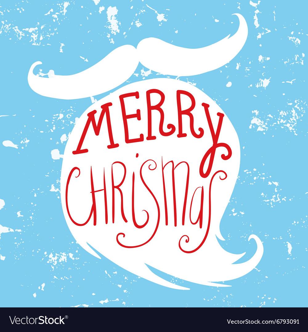 Mustache and beard of Santa Christmas card