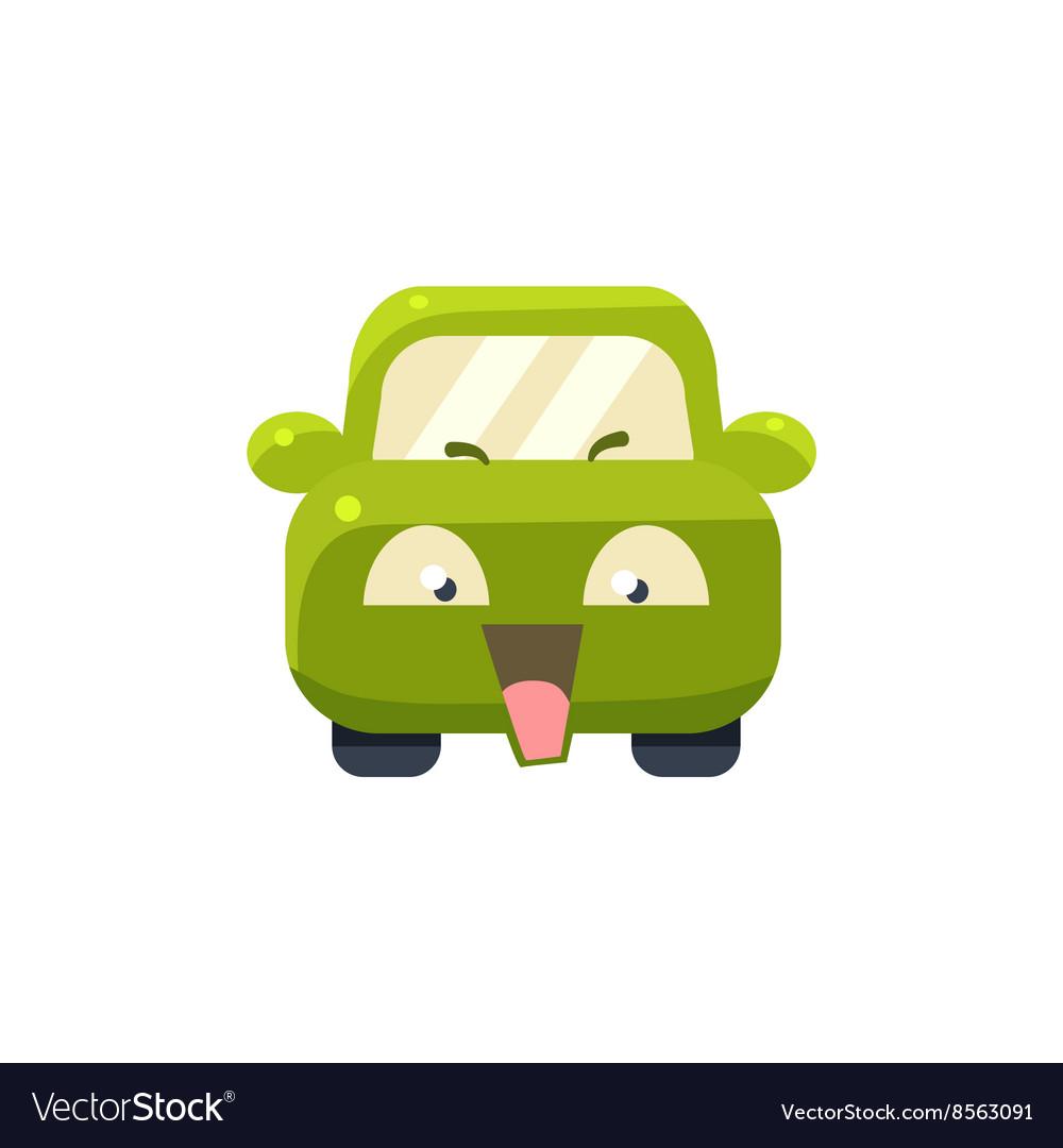 NAughty Green Car Emoji