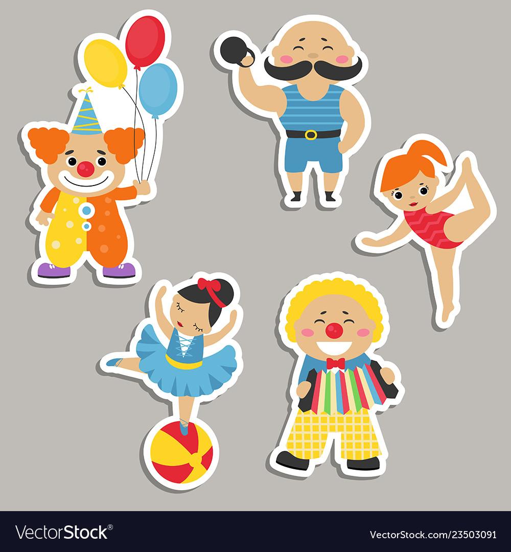 Set of circus characters set of circus characters