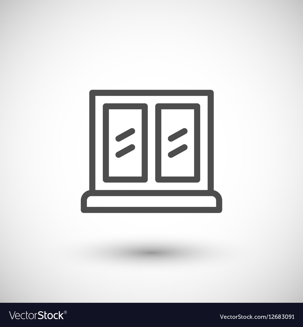 Window line icon vector image