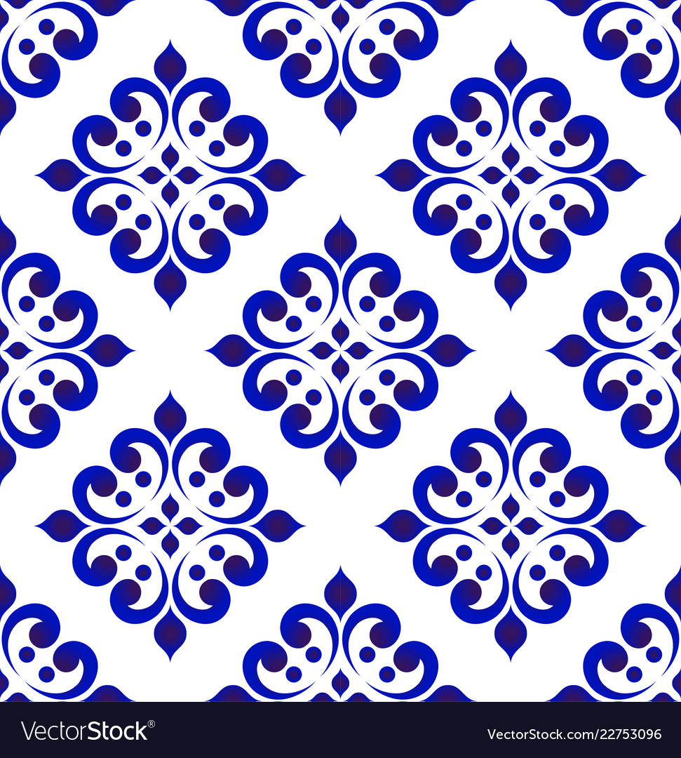 Abstract floral tile pattern