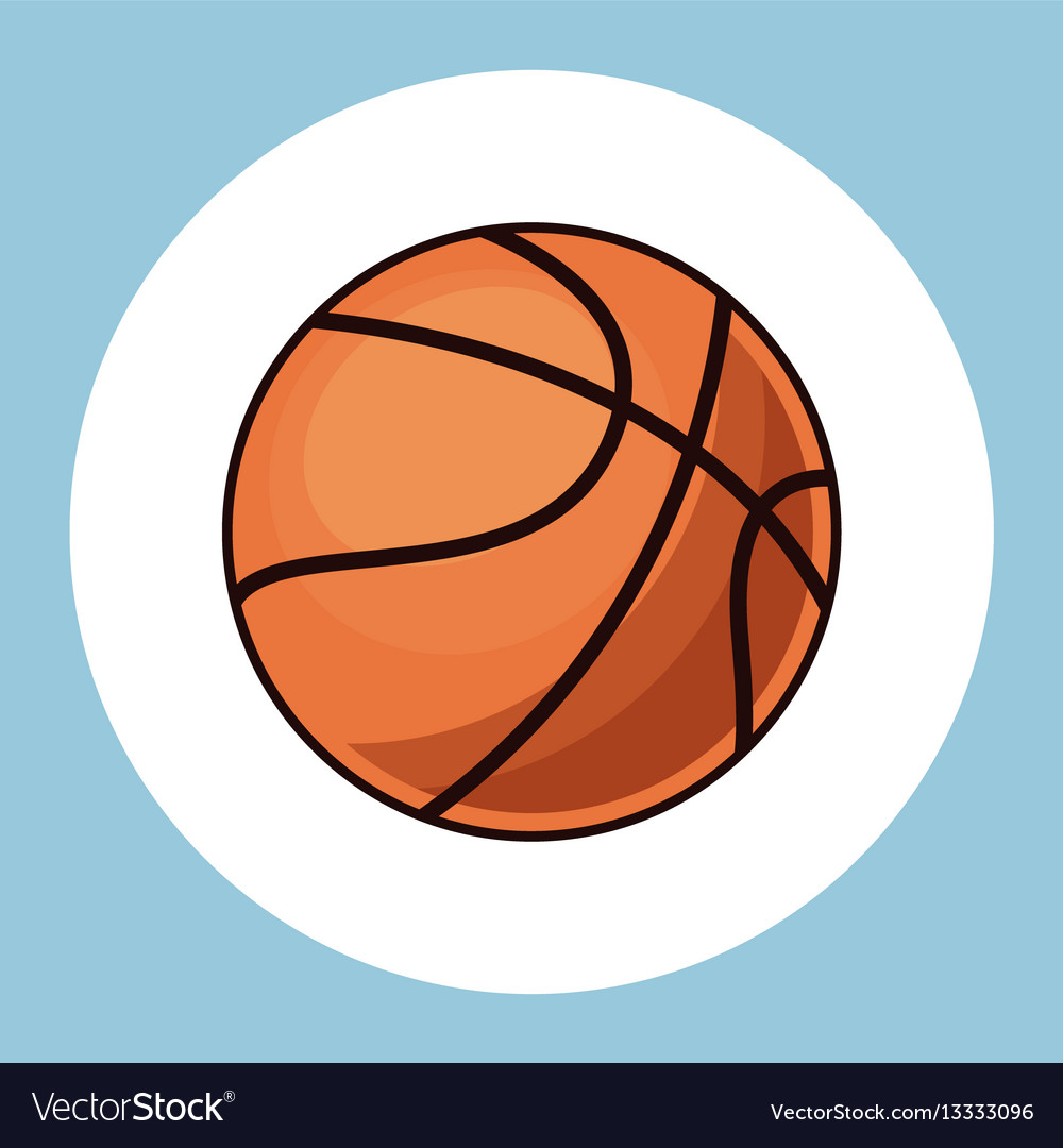 Basketball ball equipment icon