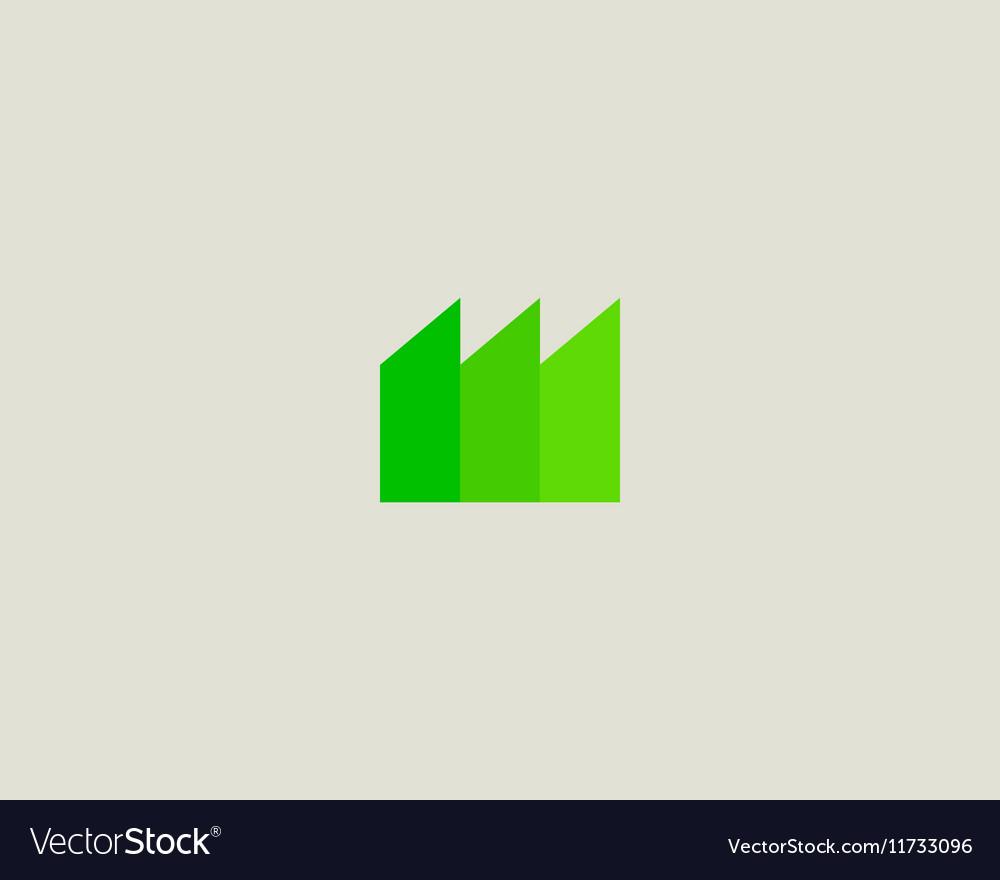 Eco factory logo design template Green energy
