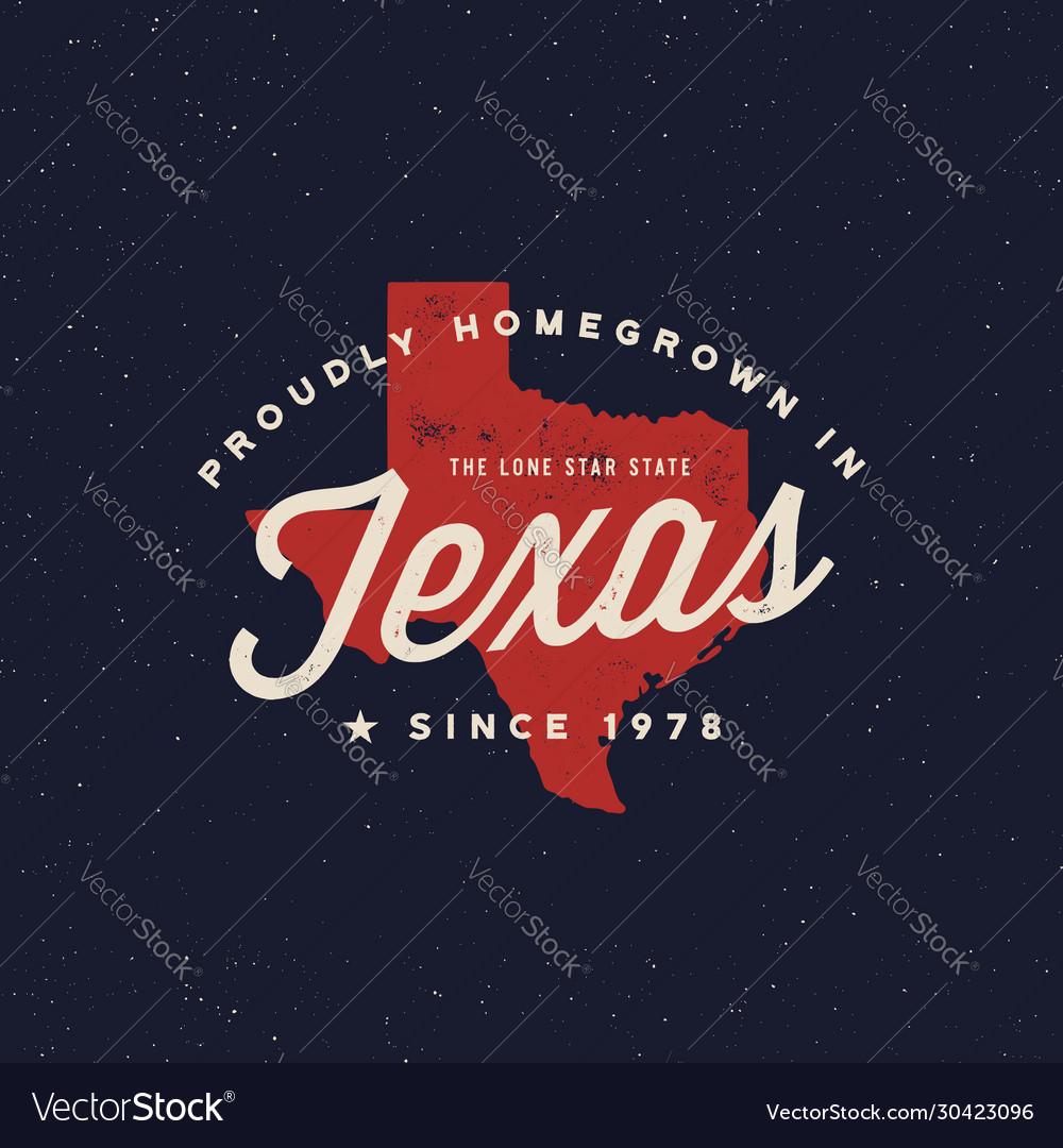 Local farm retro grunge badge homegrown in texas