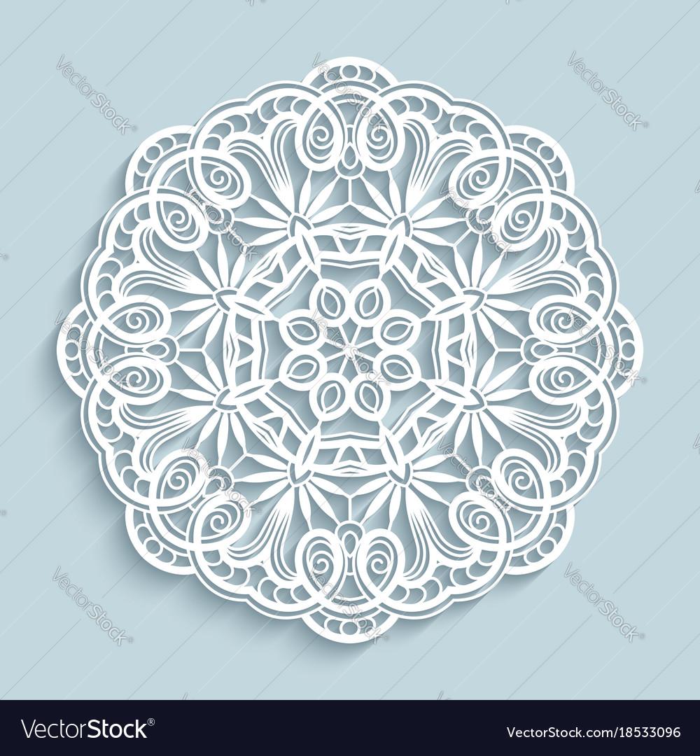 Paper lace doily cutout round pattern