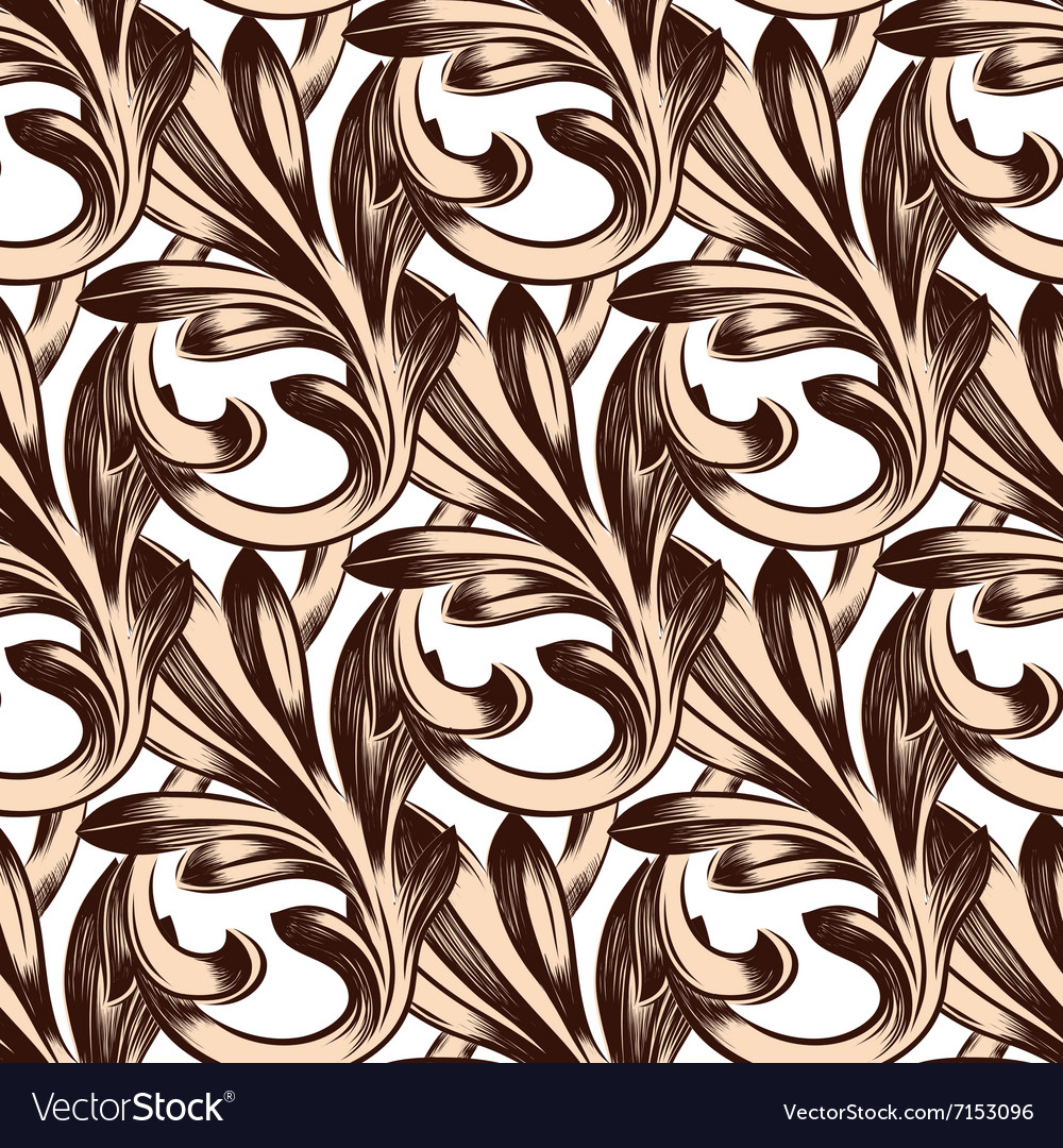 Retro classical seamless pattern seamless vector image