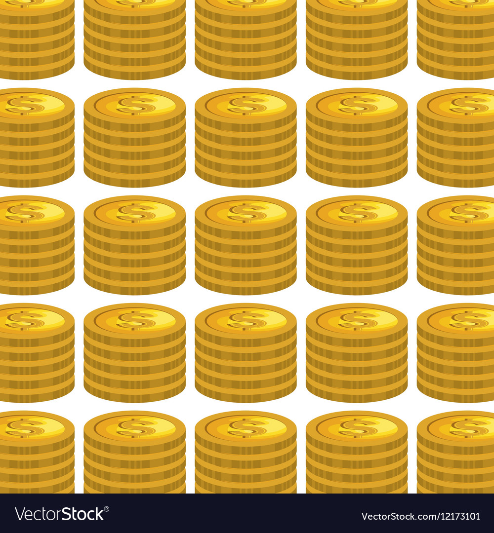 Coins money pattern isolated icon
