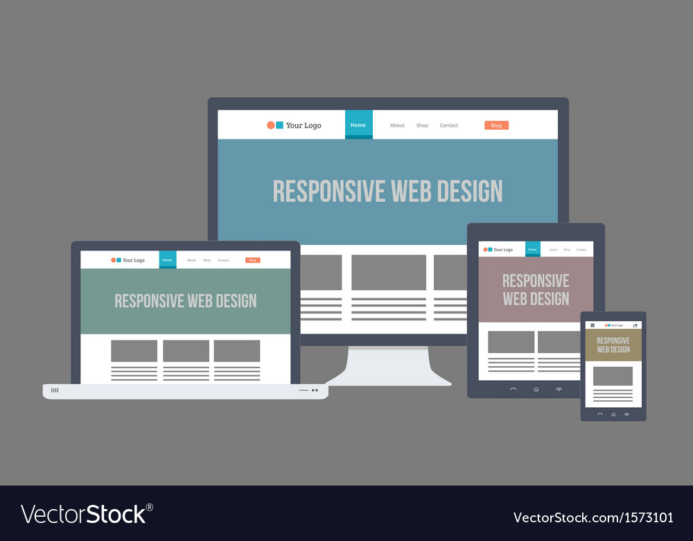 Flat Responsive Website Design