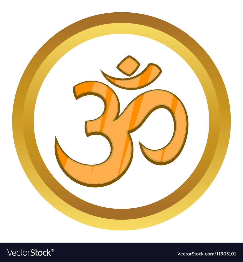 Hindu Om Symbol Icon Royalty Free Vector Image