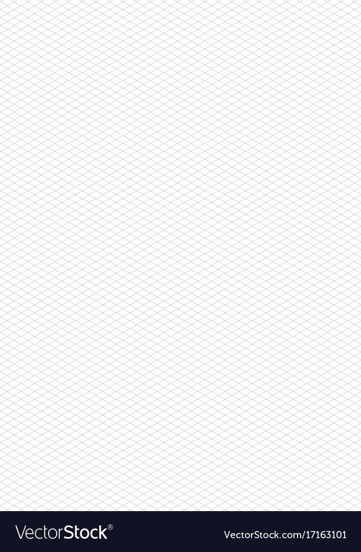 Isometric grid vector image