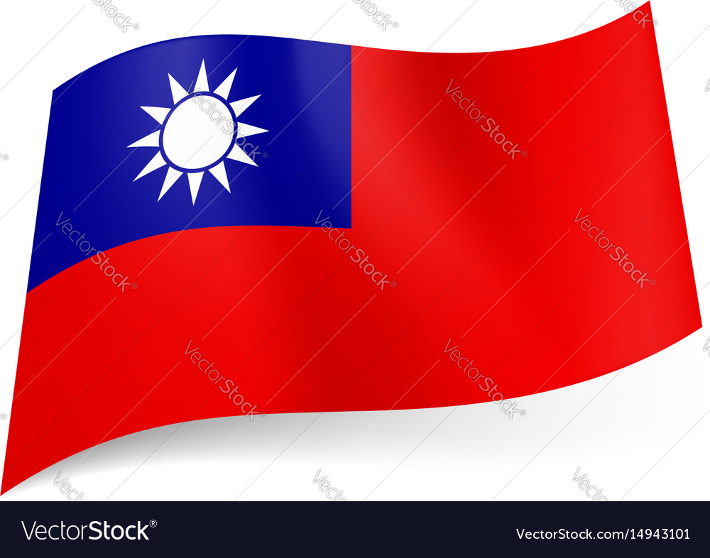 National flag of taiwan republic of china blue