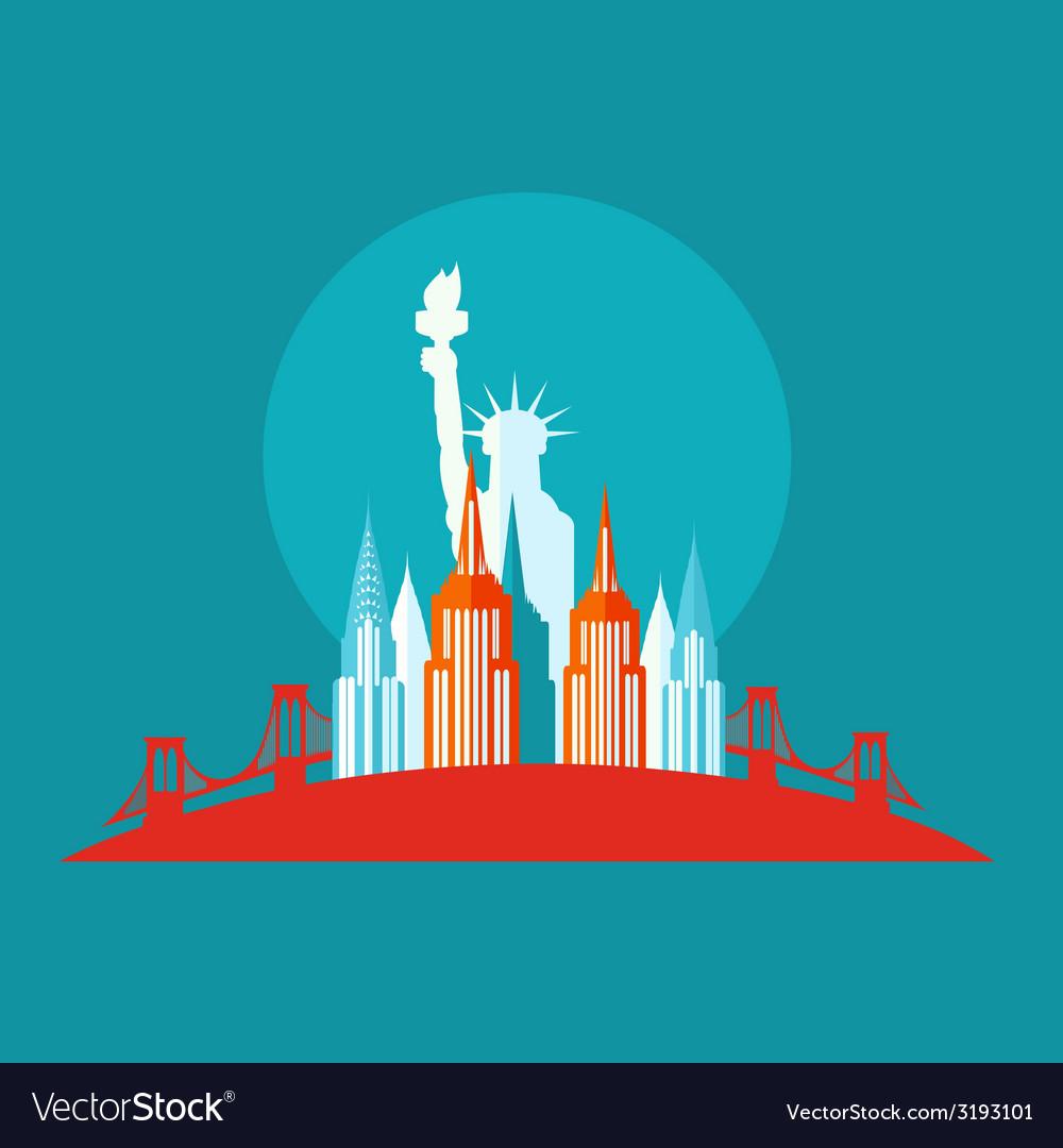 New york icon flat