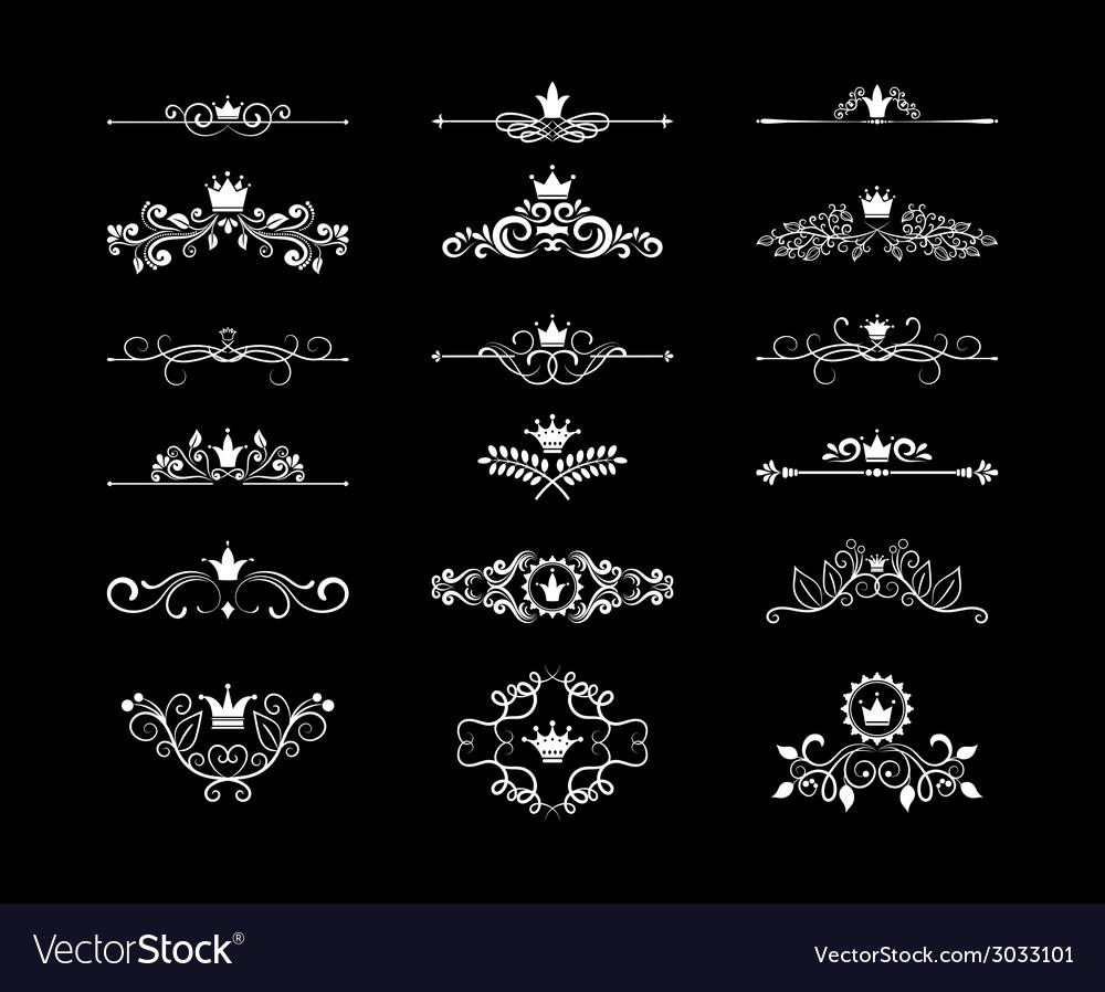 Page floral design elements vector image