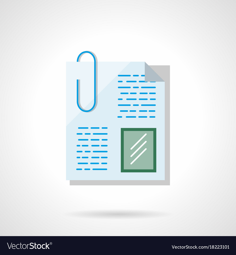 Paperclip file flat color icon