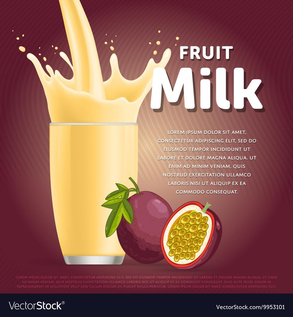 Passion fruit sweet milkshake dessert cocktail
