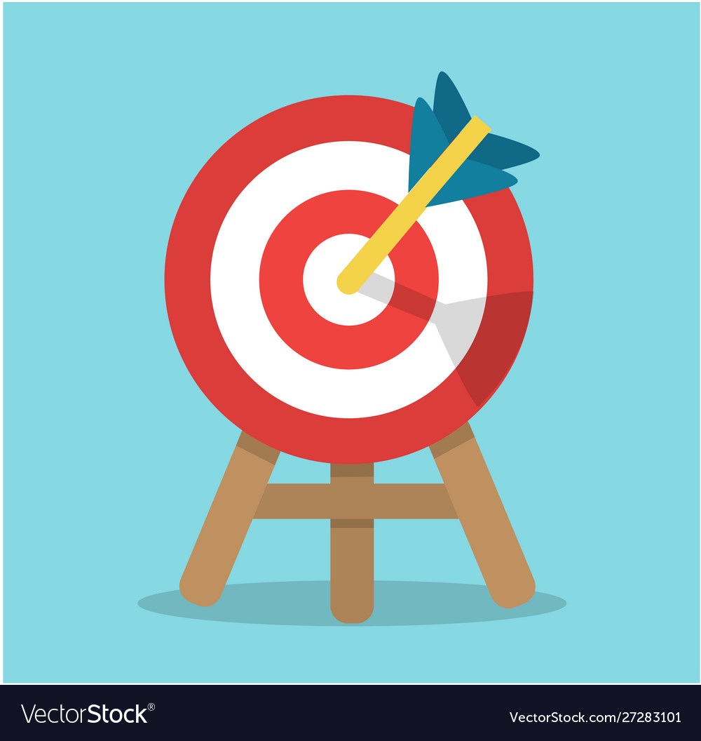 Round target with an arrow in center