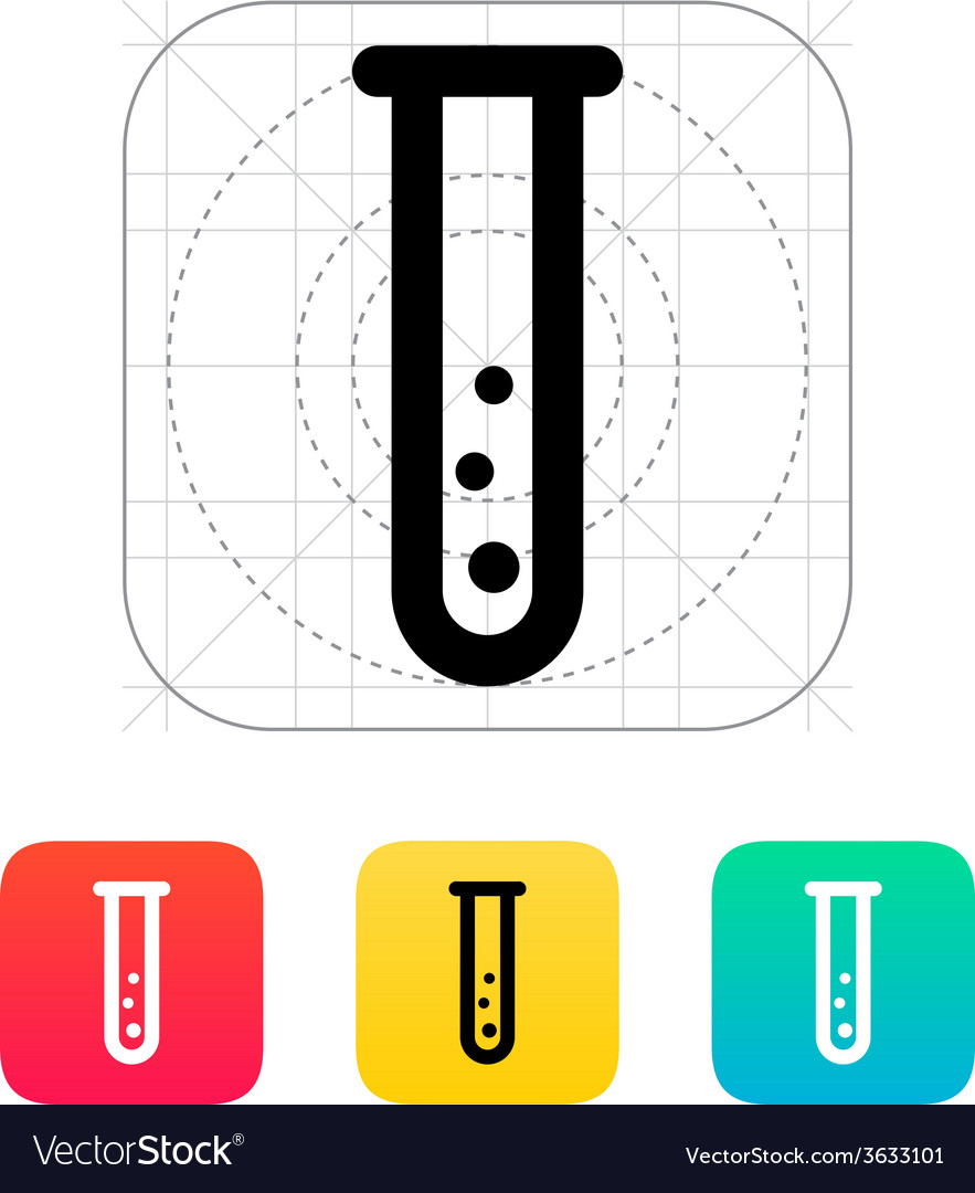 Test tube with gas icon vector image