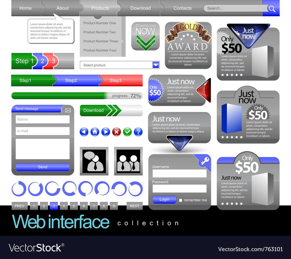 Web design element frame template